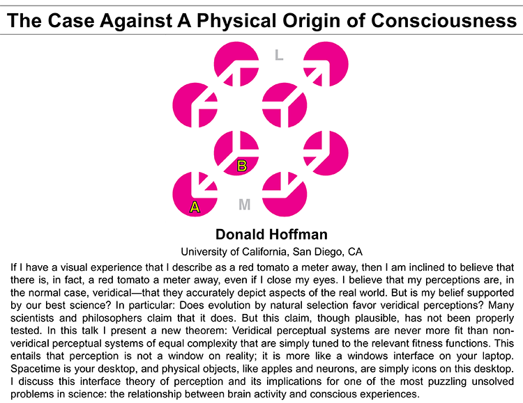 Plenary: THE CASE AGAINST A PHYSICAL ORIGIN OF CONSCIOUSNESS