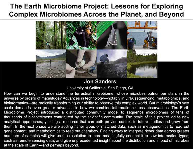 Plenary: THE EARTH MICROBIOME PROJECT: LESSONS FOR EXPLORING COMPLEX MICROBIOMES ACROSS THE PLANET, AND BEYOND